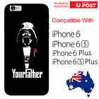 iPhone Silicone Cover Case Star Wars Dath Vader God Father Banter - Coverlads $14.95 AUD