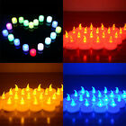 12 X LED TEA LIGHT CANDLES FLAMELESS FLICKERING OPERATED TEALIGHTS  Decoration