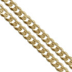Gold Plated Curb Chain 5.9mm New Solid Cuban Link Necklace