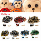 100pcs 10-18mm Color Plastic Safety Eyes For Teddy Bear Doll Animal Puppet Craft