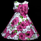 151113w577 UkW White X'mas Christmas Birthday Party Flower Girls Dress 3,4,5-13y