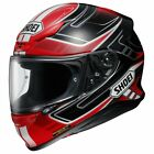 Shoei NXR Motorcycle Helmet VALKYRIE RED Black TC10 Road Street Touring Commute