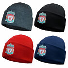 Liverpool Football Club Official Soccer Gift Knitted Bronx Beanie Hat Crest
