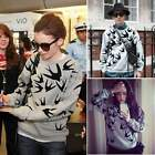 Women Round Neck Pullover Loose Sweater Sweatshirt jumper Blouse Tops Coat ItS7