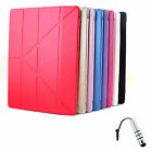 For Apple iPad Pro 12.9 inch Silk Transformers Leather Stand Case+ S Stylus