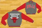 NBA JH Design Chicago Bulls Wool Jacket  New  Gray and red Color