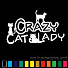 Crazy Cat Lady Sticker Vinyl Decal - Funny Family Love Figur