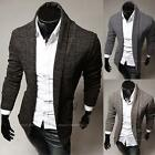 Casual Men Cardigan Sweaters Knitwear Wrap Sweater Knitting Tops Solid Slim Fit