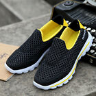Sporting Running Shoes Men Breathable Mesh Slip on Athletic Sneaker Shoes JL367