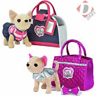 Chi Chi Love Glam Fashion Pet Chihuahua Dog and Handbag Brand New Girls Soft Toy