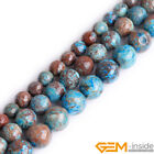 "Blue Crazy Lace Agate Faceted Round Beads For Jewelry Making 15"" 4mm 6mm 8mm 10m"