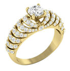 SI1/G Huge Real 1.80Ct Diamond Excellent Solitaire Engagement Ring Band 14K Gold