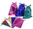LOT OF 12~84~144 Pcs METALLIC POUCHES JEWELRY GIFT POUCH WHOLESALE POUCHES BAGS