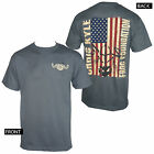 Licensed CHRIS KYLE Frog Foundation Epic Flag Men's Charcoal T-Shirt S-3XL NEW
