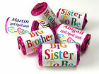 Personalised Mini Love Heart Sweets for Big Sister or Brother to be, favours