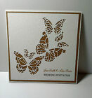 Wedding VINTAGE SILHOUETTE BUTTERFLY INVITATION & RSVP / INSERTS; 60 colours