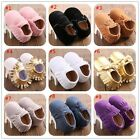 Newborn Cute Moccasins Toddler Baby Boy Girl Soft Sole Kids Tassel Shoes 123 #BU