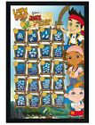 James & Neverland Pirates Black Wooden Framed Learn To Count Poster 61x91.5cm