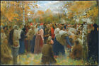 "LUKIAN POPOV ""To the Holy Places"" crowd forest journey people forest NEW CANVAS"