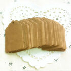 100PCS Kraft Paper Hang Tags Birthday Party Favor Gift Label Brown Cards Hot OZ