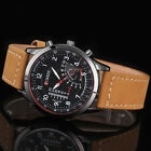 New Curren Classic Men's Leather Strap Steel Case Quartz Analog Wrist Watch