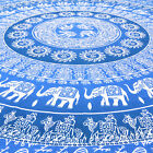 LARGE SELECTION - QUEEN OMBRE MANDALA TAPESTRY BEDSPREAD Bohemian Dorm Decor