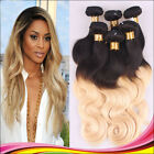 3 Bundles Brazilian Virgin Body wave Human Hair Extensions 150g #1b-blonde Ombre