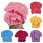 Microfiber Towel Quick Dry Hair Magic Drying Turban Wrap Hat Caps Spa Bathing