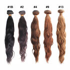 "12""-28"" Remy Virgin Brazilian Natural Wave Human Hair Extension Weaving Weft 50g"