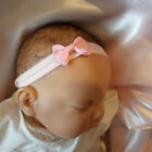 Baby Headband pink band pink bow all sizes