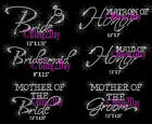 Lot of 3, 4, 5, 6,.. Bridal Party Iron On Rhinestone Transfer Bride Bundle - DIY