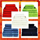 100% Egyptian Cotton Bath Towels Sheet Set Hand Large Bale Luxury Combed Stripe