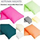 2 X LUXURY PERCALE NONIRON PLAIN DYED POLYCOTTON HOUSEWIFE PILLOW CASES