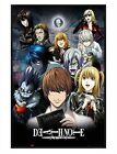 Death Note Gloss Black Framed Characters Maxi Poster 61x91.5cm