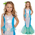 Girls Little MERMAID Ariel Fairytale Book Week Fancy Dress Costume Kids Age 4-12
