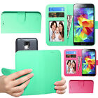 Universal Solid Wallet Phone Case Folio Protector Cover Stand Secure Card Holder