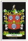 WELLS Family Coat of Arms Crest - Choice of Mount or Framed
