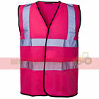 Hi Viz Event Vest Waistcoat Ladies/Mens Hen Parties Work Concert Reflective Tape