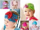 Baby Girl Infant Feather Flower Wedding Christening Headbands Photo Prop