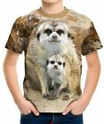 New Meerkat Mother And Cub Boys Kid Youth T-Shirt Tee Age 3-13
