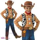 Toy Story Disney Pixar Woody DELUXE Kids Boys Fancy Dress Costume + Hat Ages 3-8