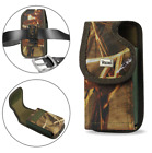 REIKO Camouflage Vertical Canvas Belt Clip Case for Phone with Otterbox Commuter