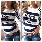 Women Hoodies Tops T-Shirt Round Neck Outwear Sweater Coat Pullover Sweatshirts
