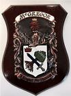 SPENCE to STUBBS Family Name Crest on HANDPAINTED PLAQUE - Coat of Arms
