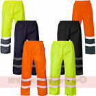 Hi Viz Safety Waterproof Rain Over Trouser Work High Vis Visibility Pants Mens