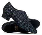 Sparkly Suede Sole Lace Up Practice Jive Cerco Stage Line Dance Shoes By Katz