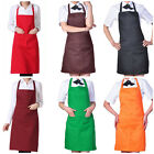 Plain Apron with Front Pocket for Chefs Butchers Kitchen Cooking Craft Baking S