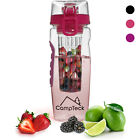 1000ml Fruit Infusing Infuser Water Bottle BPA Free Plastic Sports Detox Health