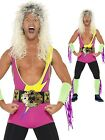 Mens 1990s 90s Retro Pro Wrestler Fancy Dress Costume Outfit Medium Large XL