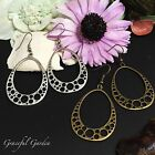 ER2707 Graceful Garden Vintage Style Filigree Tear Drop Shape Charm Earrings